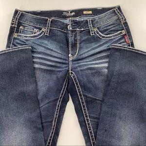 Silver bootcut AIKO blue jeans W34/L31